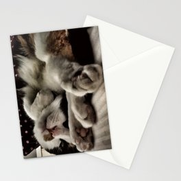 Cat get up right meow Stationery Cards