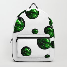 Green Shiny Water Bubbles Rising Up Art Backpack