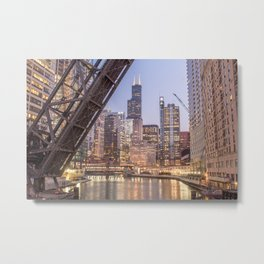 Kinzie St. Railroad Bridge Metal Print