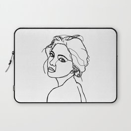 Woman's face line drawing - Adena Laptop Sleeve