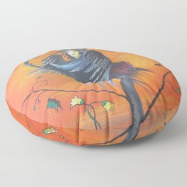 Gamaun The Prophetic Bird With Ruffled Feathers Floor Pillow
