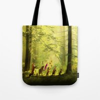Tote Bags featuring Secret Parade by Aimee Stewart