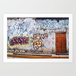 Old City Graffiti Art Print