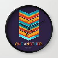 scripture Wall Clocks featuring One Another Scripture Poster (Leviticus) by Jess Creatives