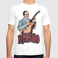 Django Reinhardt MEDIUM Mens Fitted Tee White