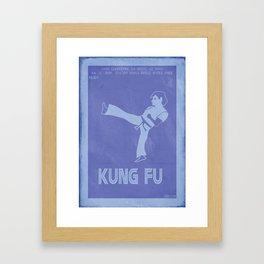 Retrogaming - Kung fu Framed Art Print