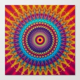 Fire and Ice Mandala Canvas Print