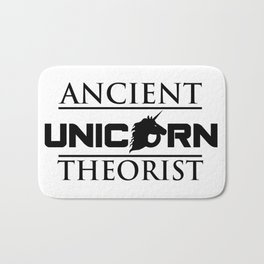 Ancient Unicorn Theorist Bath Mat