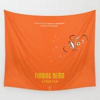 nemo Wall Tapestries featuring Finding Nemo by Smile In The Mind