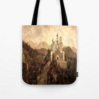 lichtenstein Tote Bags featuring Lichtenstein Castle by Dan99