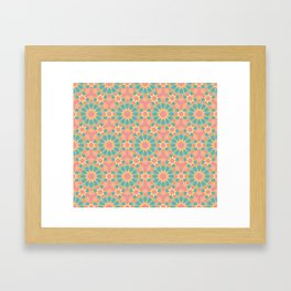 Vintage colors islamic geometric pattern Framed Art Print