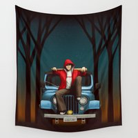 stiles Wall Tapestries featuring Wolf Buddy by Sova