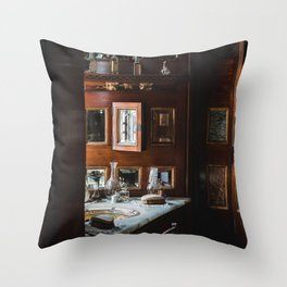 bathroom in cardiff castle Throw Pillow