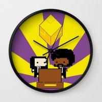 fez Wall Clocks featuring Pulp Fez by Ihazart
