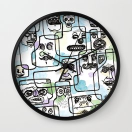 Heads of the Class Wall Clock
