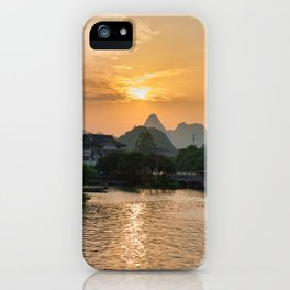 Guilin Sundown iPhone Case