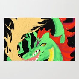 Fire-breathing Dragon Rug