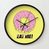 donut Wall Clocks featuring Donut by Eduardo Doreni