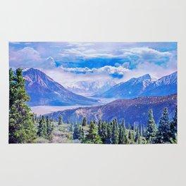 Neverland mountains Rug