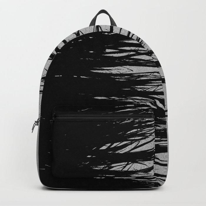 Concrete Fringe Black on Side Backpack