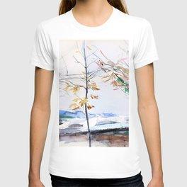 13,000px,500dpi-Giovanni Boldini - Autumn landscape with trees - Digital Remastered Edition T-shirt