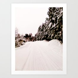 Moy zimniy dom (my winter home) Art Print