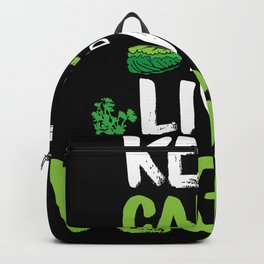 Keep calm and live vegan Backpack