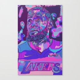 """Lebron"" Lakers Illustration Canvas Print"