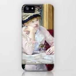 Edouard Manet Plum Brandy iPhone Case