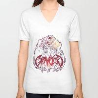 dark souls V-neck T-shirts featuring Dark Souls - Gravelord Nito by Shamfoo