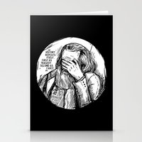 marx Stationery Cards featuring Facepalm Marx by Velozee