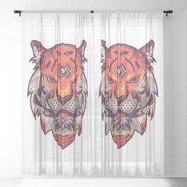 The Tiger Sheer Curtain