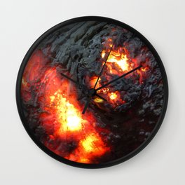 Flaming Seashell 4 Wall Clock
