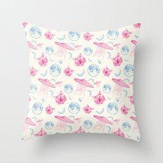 When the pattern goes bananas Throw Pillow