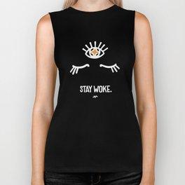 Stay Woke. Third Eye. Biker Tank