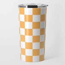 Honey aesthetic Checkerboard Pattern Travel Mug