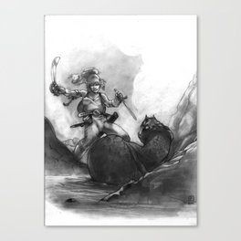Everen and the Snake Canvas Print