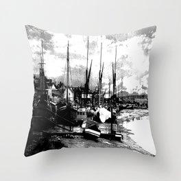 Boats At Sundown  Throw Pillow