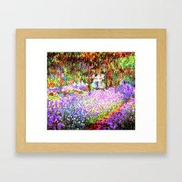 Monets Garden In Giverny Framed Art Print