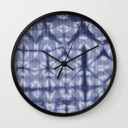 Tie Dye 2 Navy Wall Clock