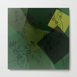 Buck Collage Metal Print