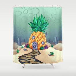 The Dwelling of the Sponge Shower Curtain
