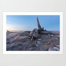 Whitefish Point Beach on Lake Superior Art Print