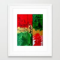 reggae Framed Art Prints featuring reggae five by songs for seba