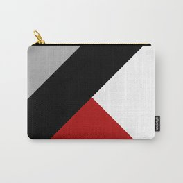 Black diagonal stripe with triangles Carry-All Pouch
