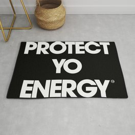 Protect Yo Energy BLK Rug
