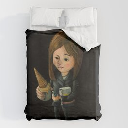 Hello Melted Coffee Ice Cream Duvet Cover