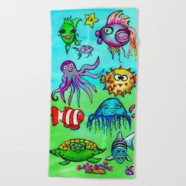 Sea Life Sampler Beach Towel