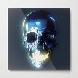 Metallic skull Metal Print