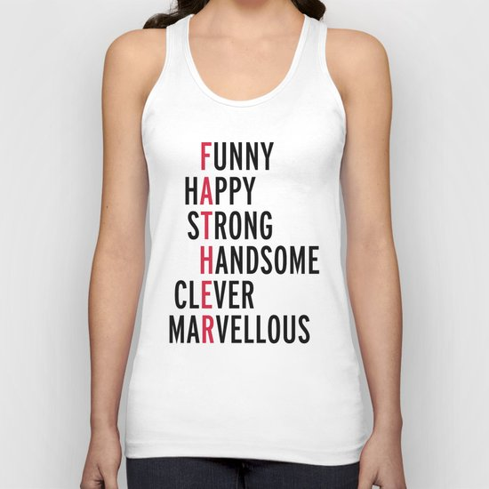 Father Quote Unisex Tank Top